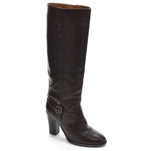 J. Crew Buckle High Heel Knee Boots 8.5 M Italy